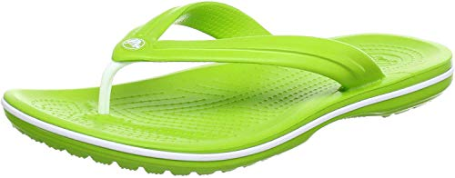 Crocs - Infradito unisex per adulti, Verde (Verde Volt, verde e bianco.), 45/46 EU