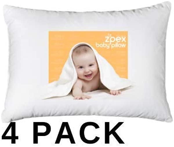 4 Piece 2 Pillows 2 Pillowcases Baby Toddler Pillows With Pillowcases 13 X 18 Toddler Pillow Set 100 Soft Organic Cotton Zpex Baby Pillow Pillowset