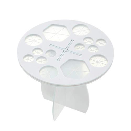 Minkissy 1 Pc Pinceau de Maquillage Porte-Séchoir Support de Séchage Acrylique Porte-Pinceau Pliant Pinceaux de Maquillage Grille de Séchage (Blanc)