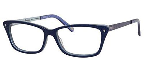 Fossil Brillengestelle FOS 6030 Monturas de gafas, Azul (Blau), 55 para Mujer