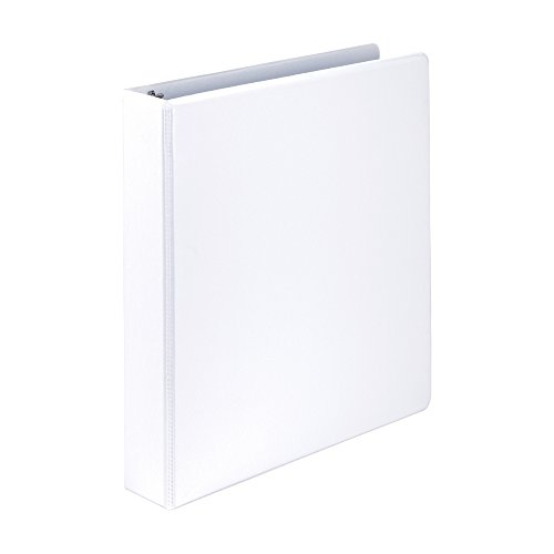 Samsill Economy 3 Ring Presentation View Binder, 1.5 Inch Round Ring – Holds 325 Sheets, Customizable Clear View Cover, White