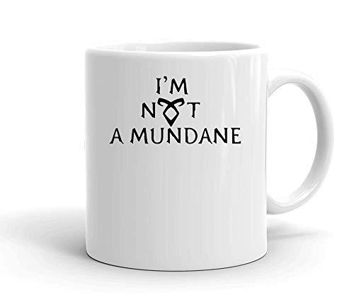 IDcommerce I'm Not A Mundane Tasse en Céramique Blanche pour Le Thé Et Le Café