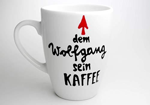 Geschenk, persönliche Tasse mit Namen, Kaffeebecher mit Wiunschnamen