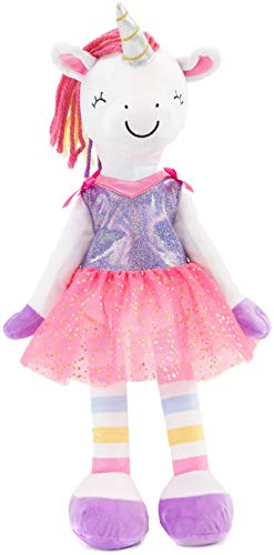 """PLUSHIBLE BRIDGING MILES WITH SMILES Sharewood Forest Friends - Plush Stuffed Animal for Girls and Boys - 18"""" Rag Doll (Piper The Unicorn)"""