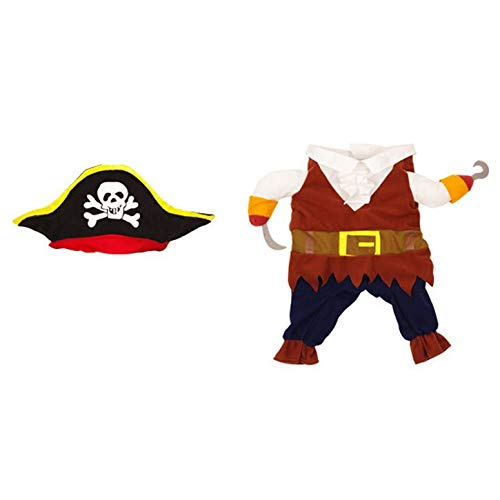 ArgoBo Abbigliamento per Cani Abbigliamento Pirata Costume di Halloween Abbigliamento trasformato Abbigliamento per Cani Abbigliamento per Cani