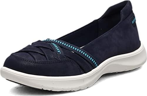 Clarks Damen Adella Poppy Turnschuh, Marineblau Textil, 38.5 EU