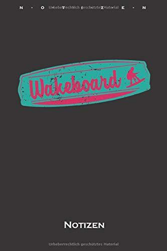 Wakeboard Notizbuch: Kariertes Notizbuch für Fans des Wassersports