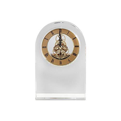 QMZZN Escultura De Decoración del Hogar Home Sculpturefigurine Estatua Reloj Transparente Decoración Sala De Estar Marco Bogu Porche Decoración De Escritorio Decoración del Hogar