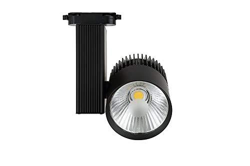 Foco de Carril LED 30W Monofásico G8002-B Negro Calido 3000k Lúmenes 3000lm ONSSI LED
