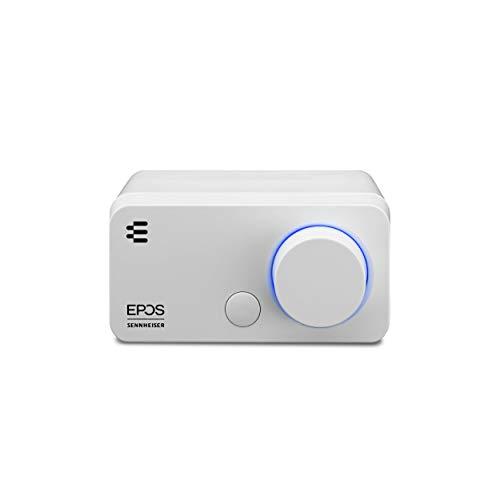 EPOS I Sennheiser GSX 300, Gaming Dac / externe USB-Soundkarte mit 7.1 Surround Sound, hochauflösende Audio EQ Voreinstellungen für Gaming, Filme und Musik – Gaming Soundkarte für PC und Mac, Weiß