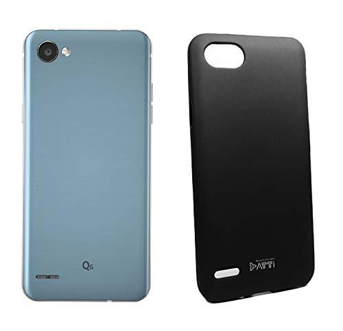 Lolipop Silicon Soft Touch Case para LG Q6 Prime/Plus/Alpha (Negro)