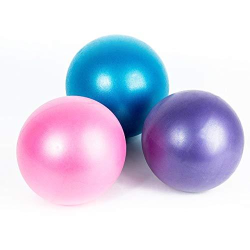 HIRAISM ヨガボール ピラティス ストレッチ フィットネス バランス ボール ミニ 20cm-25cm ピンク ブルー パープル 3色
