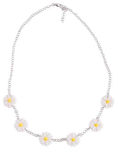 Blumen Halskette Daisy zum Prinzessin Belle Kostüm - Zubehör zum Gärtnerin Zwerg Clown oder Hippie Kostüm