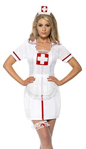 Krankenschwester Set 3-teilig Nurse Set Hut Strumpfband Sch�rze