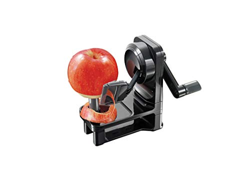 Simposh Multi-Peeler | Rotary Apple Peeler with Serrated Stainless Steel Blade | Safely, Quickly & Easily Peels Apple Pear Kiwi Tomato | Adjusts to Different Skin Peel Variations