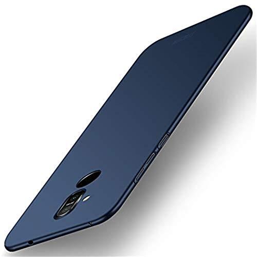 HUOCAI per Cover Nokia 7.1 Plus, [Ultra Sottile Leggero] [Anti-Graffi], Ultra Leggero Protetto PC Duro Case Custodia per Nokia 7.1 Plus - Blu