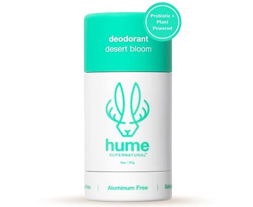 Hume Supernatural Plant-Based Deodorant - Aluminum-Free Deodorant for Women and Men   Natural Ingredients   Baking Soda-Free   Coconut, Probiotics & Prebiotics Anti Sweat Deodorant – Desert Bloom 2 oz