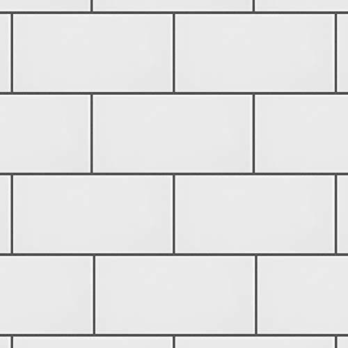 "SomerTile WXR3PSGW Pente Subway Ceramic Wall Tile, 3"" x 6"", Glossy White"