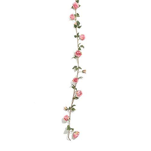 unknow Guirnalda de rosas artificiales de 145 cm, para hotel, boda, hogar, fiesta, jardín, manualidades, decoración de arte, 1 pieza-G