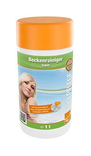 Beckenreiniger Super 1l Flasche, Reiniger für Pool, Grundreinigung für Pool und Schwimmbad