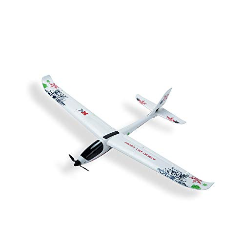 WL XK-A800 EPO 5CH Glider Wingspan, Fixed Wing 780mm Remote Control Airplane Flying Toy Drone, 3D/6G switchable System (White)