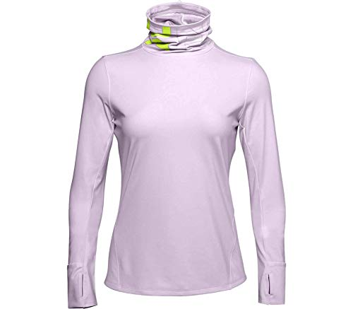 Under Armour Maglia Qualifier Ignight Coldgear Funnel Neck, Donna, Crystal Lilac/Green Citrine/Reflective...