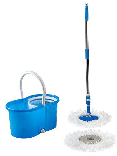 bucket with bonus mops WalterDrake Clean Spin 360 Microfiber Mop and Bucket Set