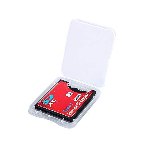 JIUY Ranura 64GB- 128 GB Individual Extrema para Las Micro SD/TF SDXC para Compact Flash CF Lector de Tarjetas de Memoria de Tipo I Escritor Adaptador (Rojo)