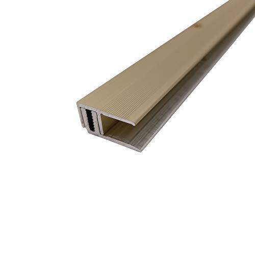 ufitec Profilsystem für Parkett- und Laminatböden - für Belagshöhen von 7-16 mm - viele Farben lieferbar (Abschlussprofile 100 cm lang, Champagne)