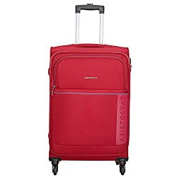 Aristocrat Polyester 69 cms Red Softsided Check-in Luggage (Baleno),VIP Industries Ltd,Baleno