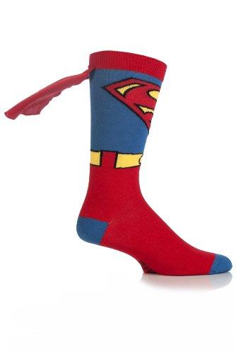 Comic-Helden Herren 1 Paar SockShop Superman Cape Socks 11-13 Mens Bunt