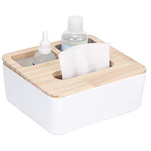 Porte-mouchoirs en papier, boîte à mouchoirs en papier, boîte à mouchoirs, multifonction avec couvercle pour bureau, bureau, salon, chambre(Three grid tissue box)