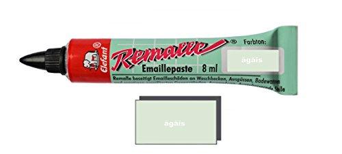 Helmecke & Hoffmann Remalle Emaille Paste Emaillelack Reparaturlack Lack in vielen Farben je 8 ml + Pinsel Fuer Jede Tube (ägäis)