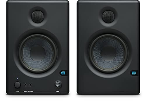 PreSonus Eris E4.5 Altavoces multimedia Monitores de estudio (par) con paquete de software para grabación y podcasting