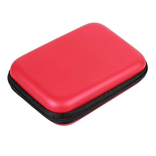 Accesorios digitales portátiles Organizador de almacenamiento de auriculares Unidad flash USB Bolsa para auriculares Estuche multifunción para cable, cable, cargador, disco duro, tarjeta SD(Red)