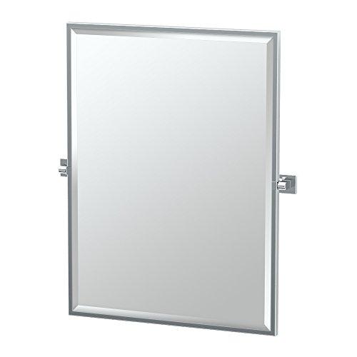 Gatco 4059FS Elevate Framed Rectangle Mirror, Chrome, -