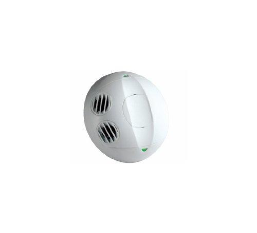 Leviton OSC10-U0W Ceiling Mount Occupancy Sensor, Ultrasonic, 360 Degree, 1000 sq. ft. Coverage, Self-Adjusting, White