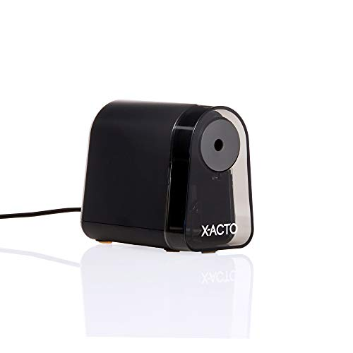 X-ACTO Pencil Sharpener | Mighty Mite Electric Pencil Sharpener, With Pencil Saver, SafeStart Motor, Black, 1 Count