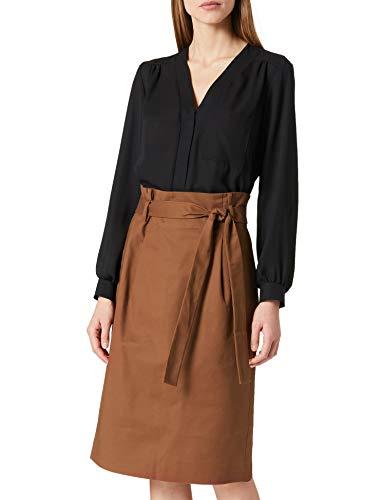 Noa Noa Womens Essential Stretch, Below Knee Skirt, Friar Brown, 42