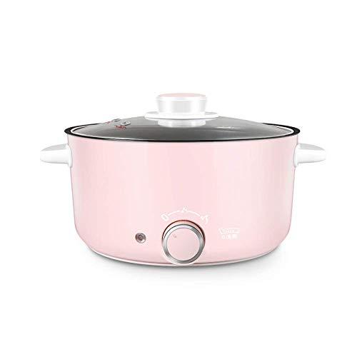 Mini Olla eléctrica portátil de 3L para cocinar, Olla con Revestimiento Antiadherente para Sopa, gachas de Avena, sartén eléctrica al Vapor, Negro