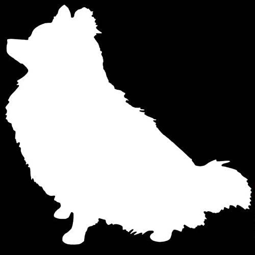 MBNMDFEGGJM 3 Piezas de Pegatinas y calcomanías para Coche 15,1 * 15,2 CM Pomeranian Dog Pegatinas Impermeables para Ordenador portátil, monopatín, teléfono para Coche,...