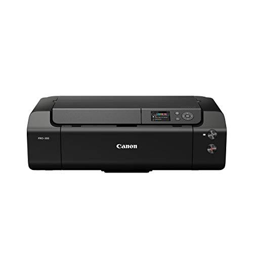 Canon imagePROGRAF PRO-300 A3+ Drucker Farbtintenstrahldrucker Fotodrucker (DIN A4, A3, A3+, 4800 x 2400 dpi, 7,5 cm LCD, WLAN, LAN, USB, AirPrint, PRINT App, 10 separate Tintentanks)
