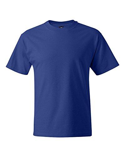 Hanes Big Herren T-Shirt Beefy-t - Blau - 4X-Large Hoch