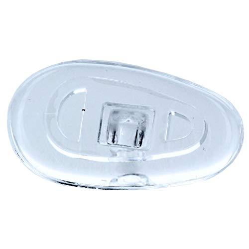 2 Paar (4 Stück) Nasenpads/Brillenpads - Silikon Schraubsystem, vers. Größen (Tropfen 13mm)