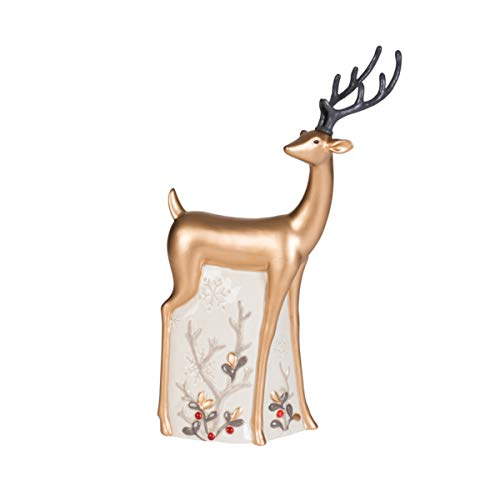Fitz and Floyd Wintry Woods Snowman Collectible, Deer Figurine -  Lifetime Brands Inc., 49-781