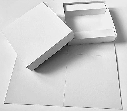 Spieltz DIY Spiel: Großes Blanko Brettspiel zum Selbstgestalten. Leeres Spielbrett (50x50 cm) + Schachtel + Einlage, Leinenpapier weiß, Made in Europe (Large)