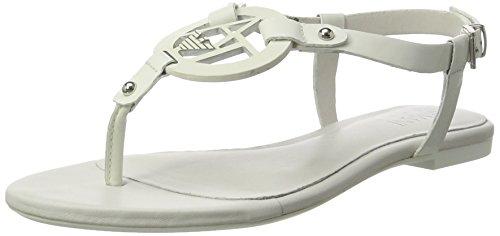 Armani Jeans 9252197P613, Sandalias Planas Mujer, Blanco (Bianco), 38 EU