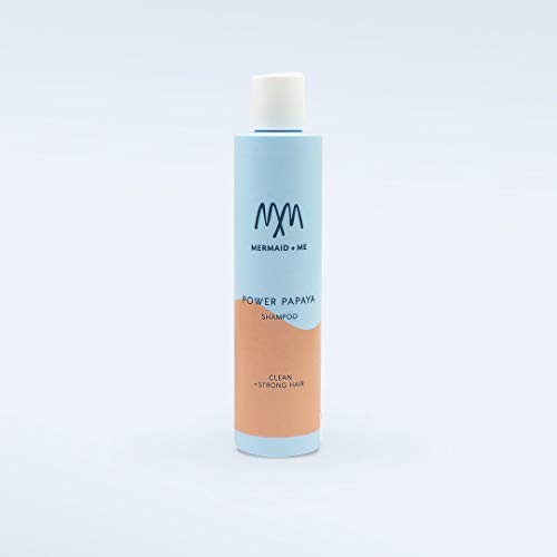 Mermaid + Me Power Papaya Shampoo (250 ml) – sanftes Shampoo mit Papaya Power – vegane Haarpflege für trockenes Haar – sonniger Papaya Duft