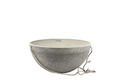 TS Blumenampel, Cera-Mix Nova, frostbeständig und leichtgewichtig, Stone, 26x26x13 cm