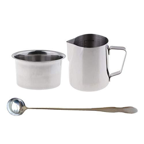 N-A RVS Zeep Kaars maken Pitcher Wax smelten gieten Pot Dubbele Boiler met Lepel 3 stks/set